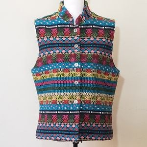 South American Style Embroidered Vest